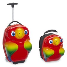 Travel Buddies 2 Piece Popo Parrot Luggage Set
