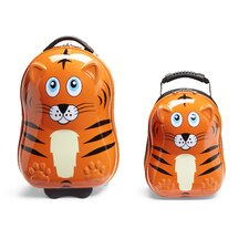 Travel Buddies 2 Piece Tiger Luggage Set