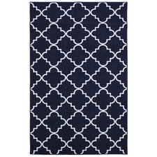 Loop Print Base Fancy Trellis Navy Area Rug