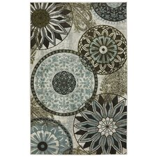 New Wave Inspired India Printed Area Rug