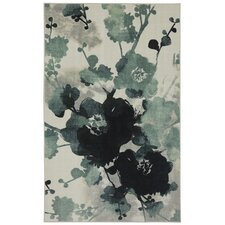 New Wave Stream of Blues Water Printed Area Rug