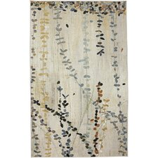 New Wave Trailing Vines Multi Printed Area Rug