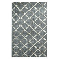 Strata Fancy Trellis Gray Printed Area Rug