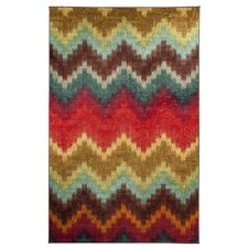 Strata Painted Zig Zag Multi Printed Area Rug
