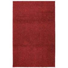Urban Retreat Bolster Shag Crimson Tufted Area Rug