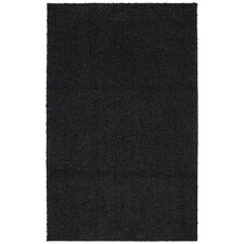Urban Retreat Bolster Shag Black Tufted Area Rug