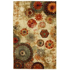 Strata Caravan Medallion Multi Printed Area Runner