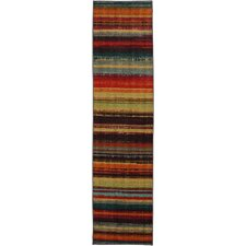 New Wave Boho Stripe Multi Printed Area Rug