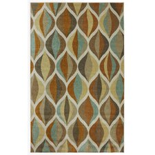 New Wave Taupe Ornamental Ogee Area Rug