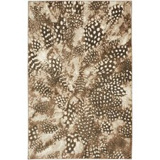 Reflections Bob Timberlake Salem Feathers Brown Area Rug