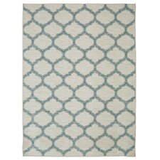 Loop Print Base Glenn Aqua Area Rug