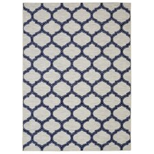 Loop Print Base Glenn Navy Area Rug