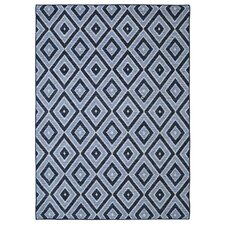 Loop Print Base Shima Blue Area Rug