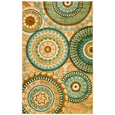 Strata Teal Forest Suzani Area Rug