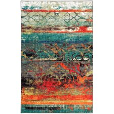Strata Blue/Red Area Rug