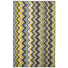 New Wave Ziggidy Yellow Area Rug