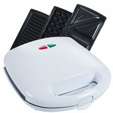 3 in 1 Sandwich Panini Press & Waffle Maker Iron