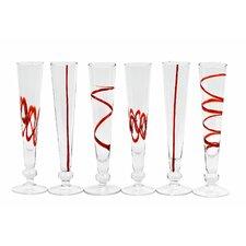 Crazy Cordials Flute Glass (Set of 6)
