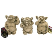PiccaDilly 3 Piece Gargoyle Statue Set
