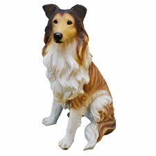 Long - Haired Collie Dog Figurine