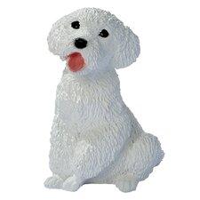 Poodle Puppy Dog Figurine