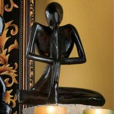 Authentic Foundry Iron Balinese Yogi Meditation Figurine