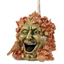Laughing Greenman Hanging Birdhouse