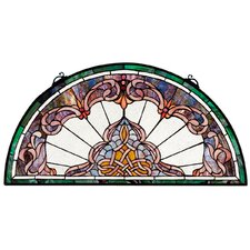 Lady Astor Demi Lune Stained Glass Window