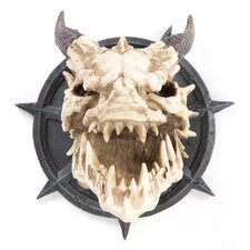 Horned Dragon Skull Trophy Wall Décor