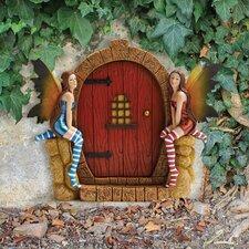 The Enchanted Portal Fairy Door Wall Statue