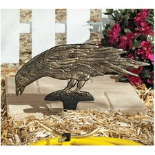 Mystic Raven Authentic Foundry Head Down Ground Garden Stake