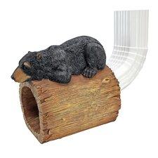 Bear Gutter Guardian Downspout Statue