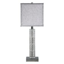 "Crystal Cascade 26.5"" H Table Lamp with Square Shade"