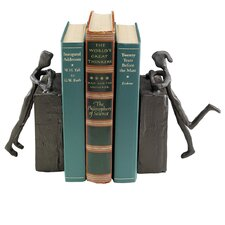 Cast Iron Statues Book Ends (Set of 2)