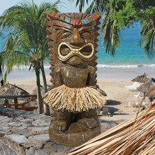 Pau Hana Hawaiian Tiki Totem Statue