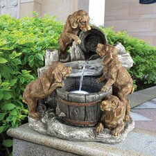 Puppy Pail Pour Garden Fountain