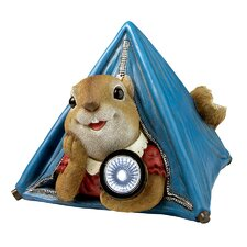 Backyard Camper Squirrel Solar Statue