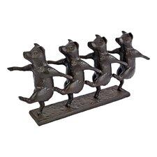 Dancing Pig Chorus Line Figurine