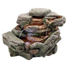 Resin Waterfall Creek Cascading Tabletop Fountain