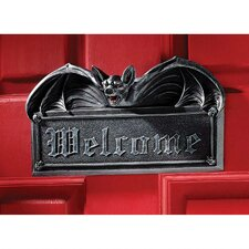 Vampire Bat Welcome Wall Décor