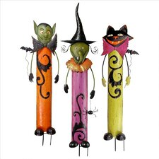 3 Piece Halloween Metal Garden Stakes