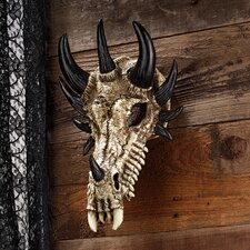 Manchester's Dragon Bones Sculptural Skull Trophy Wall Décor