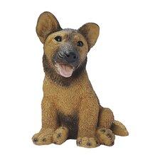 German Shepherd Puppy Dog Figurine