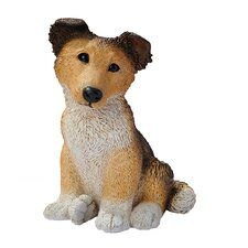 Collie Puppy Dog Figurine