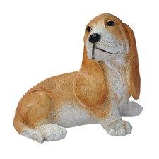 Basset Puppy Dog Figurine in Brown