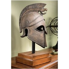 Macedonian Battle Helmet Museum Sculpture