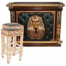 Egyptian Bar Set with Wine Storage