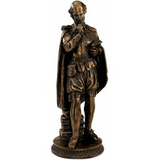 Pondering Shakespeare Figurine in Faux Bronze