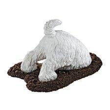Highland Terrier Digging Dog Figurine