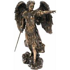 Uriel the Archangel Figurine in Rich Faux Bronze